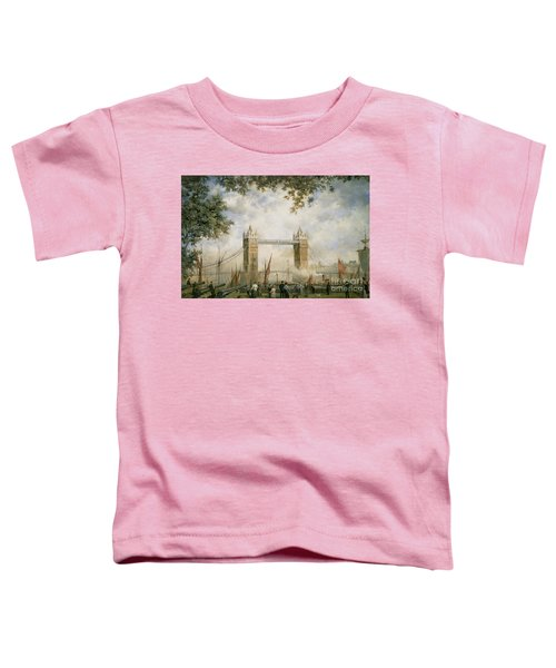 Tower Bridge - From The Tower Of London Toddler T-Shirt by Richard Willis