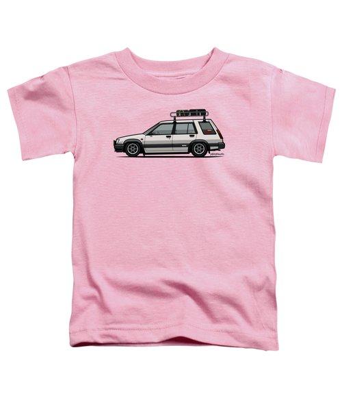 Toyota Tercel Sr5 4wd Slammed Wagon Al25 White Toddler T-Shirt