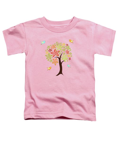 Tree And Birds Toddler T-Shirt