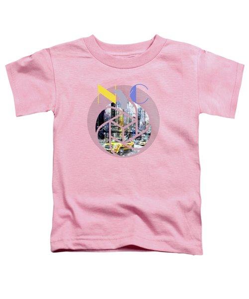 Trendy Design New York City Geometric Mix No 3 Toddler T-Shirt