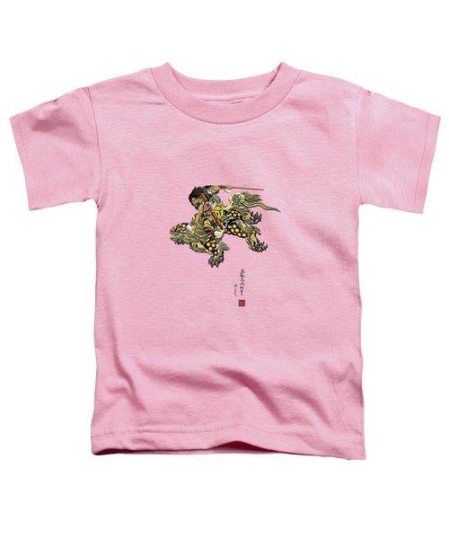 Tribute To Katsushika Hokusai - Shoki Riding Shishi Lion  Toddler T-Shirt