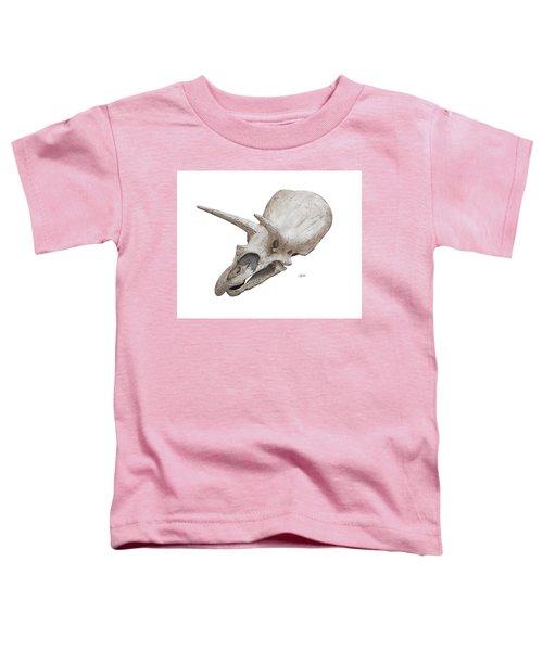 Triceratops Skull Toddler T-Shirt