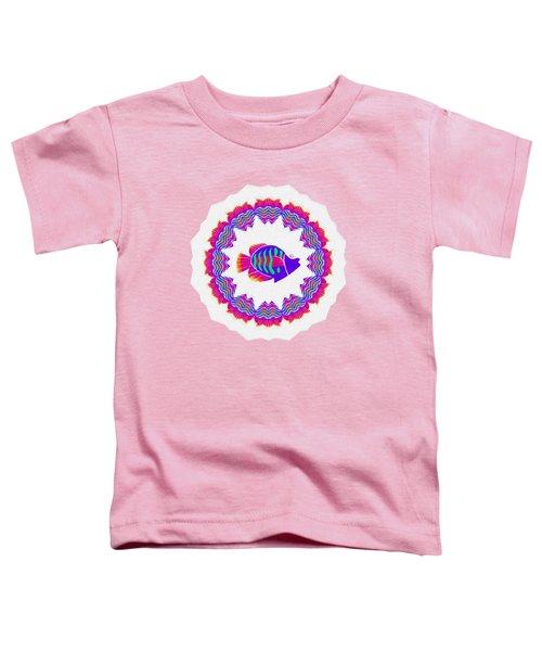 Tropical Fish Kaleidoscope By Kaye Menner Toddler T-Shirt by Kaye Menner
