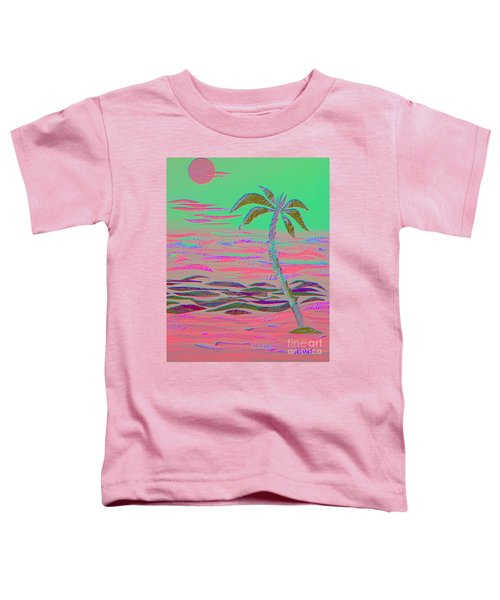 Hot Pink Coconut Palm Toddler T-Shirt