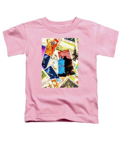 True Blue Postbox Toddler T-Shirt