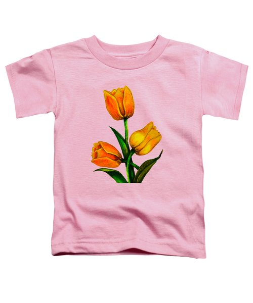 Tulips Toddler T-Shirt by Zina Stromberg