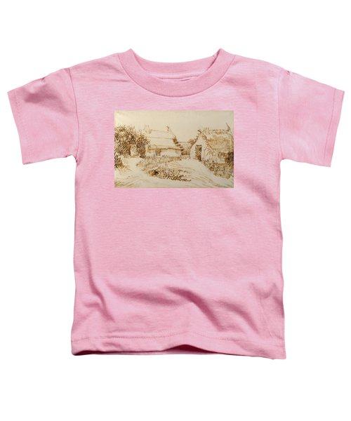 Two Cottages At Saintes Maries De La Mer Toddler T-Shirt