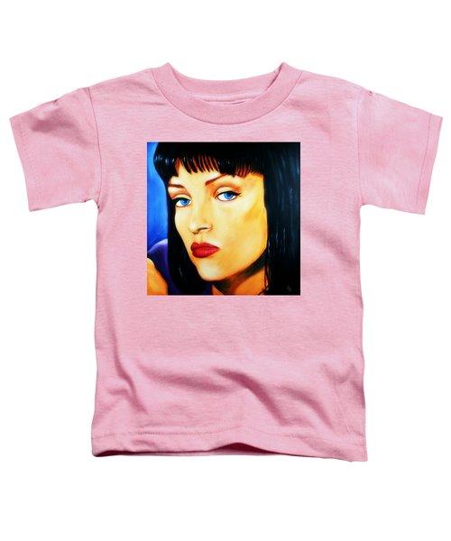 Uma Thurman In Pulp Fiction Toddler T-Shirt
