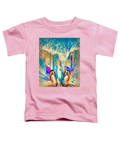 Toddler T-Shirt featuring the painting Vacation Time by Tithi Luadthong