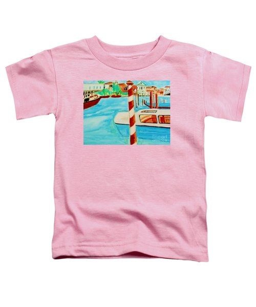 Venice Travel By Boat Toddler T-Shirt