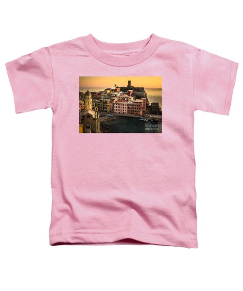 Vernazza At Sunset Toddler T-Shirt