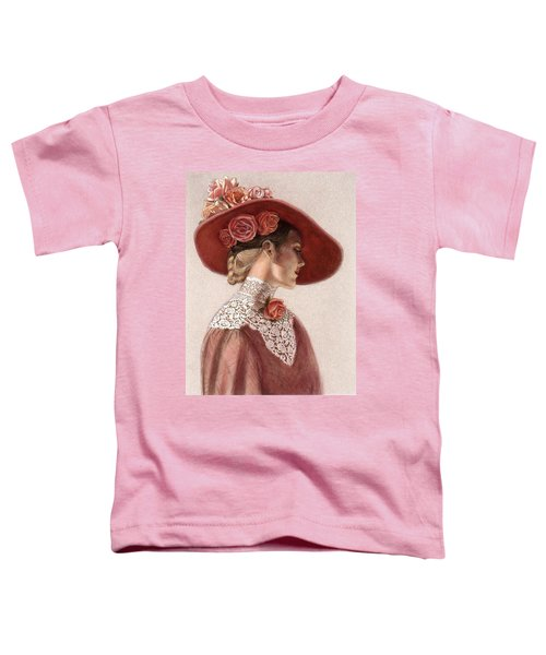 Victorian Lady In A Rose Hat Toddler T-Shirt