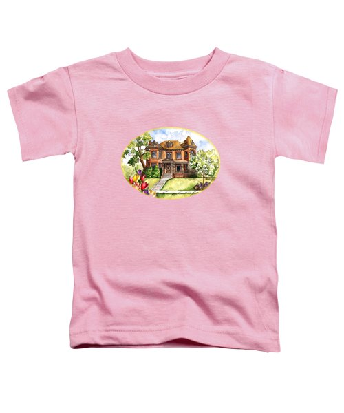 Victorian Mansion In The Spring Toddler T-Shirt by Shelley Wallace Ylst