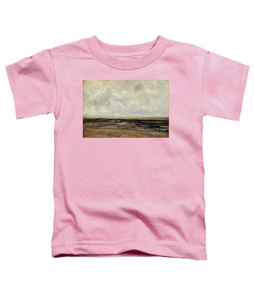Villerville Beach In Normandy Toddler T-Shirt