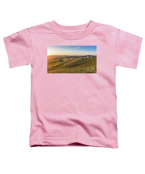 Vineyard At Barbaresco, Italy Toddler T-Shirt