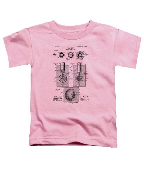 Vintage 1902 Golf Ball Patent Artwork Toddler T-Shirt by Nikki Marie Smith