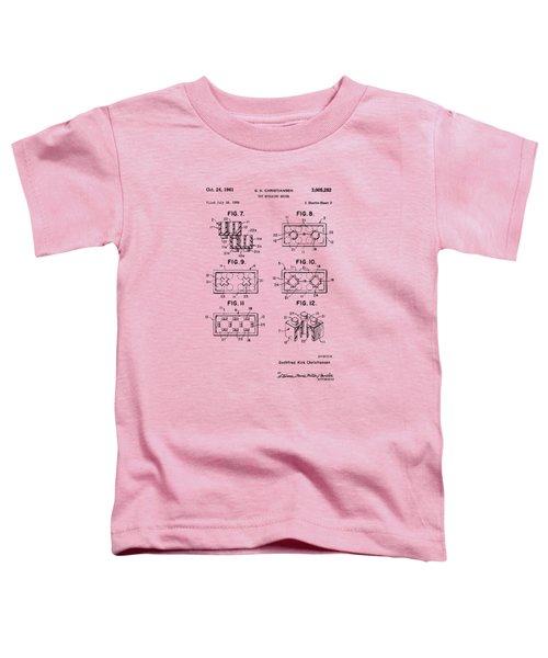 Vintage 1961 Lego Brick Patent Art Toddler T-Shirt