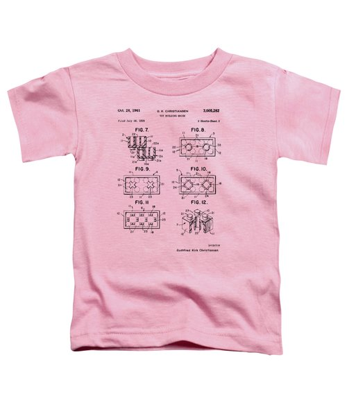 Vintage 1961 Lego Brick Patent Art Toddler T-Shirt