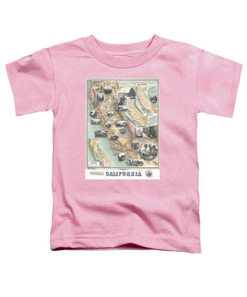 Vintage California Map Toddler T-Shirt