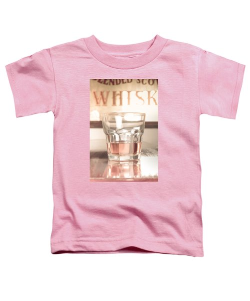 Vintage Pub Whisky On Old Wooden Counter Toddler T-Shirt