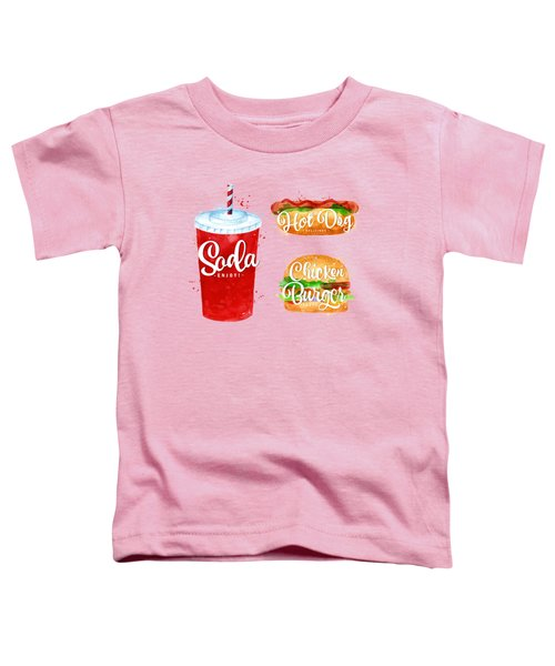 Vintage Soda Toddler T-Shirt by Aloke Creative Store
