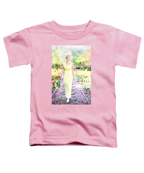 Vintage Val In Tulips Toddler T-Shirt