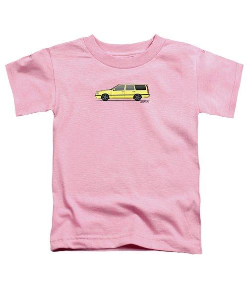 Volvo 850r 855r T5-r Swedish Turbo Wagon Cream Yellow Toddler T-Shirt by Monkey Crisis On Mars