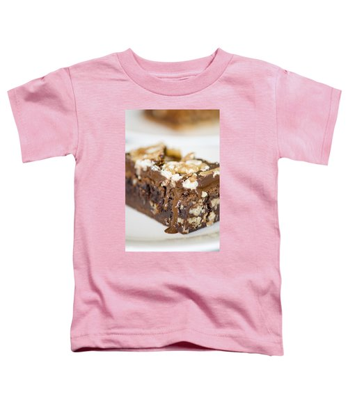 Walnut Brownie On A White Plate Toddler T-Shirt