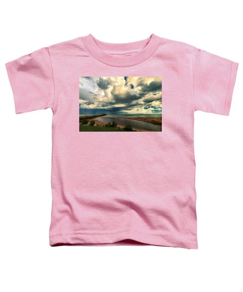 Watching The Storm On Lake Erie Toddler T-Shirt
