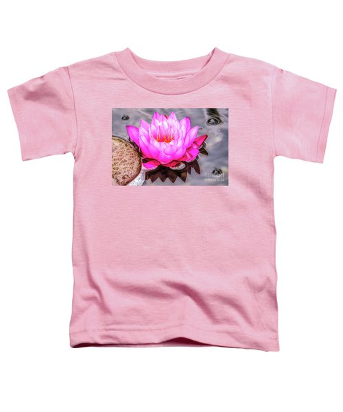 Water Lily In The Rain Toddler T-Shirt