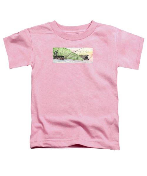 Watercolor Barn Toddler T-Shirt