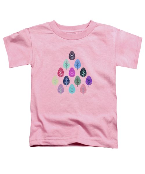 Watercolor Forest Pattern  Toddler T-Shirt