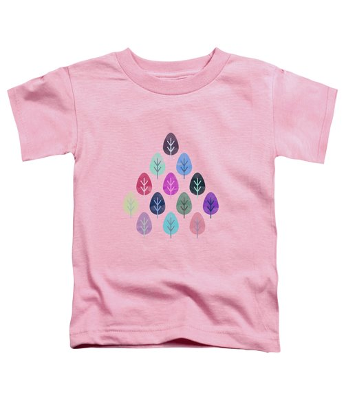 Watercolor Forest Pattern II Toddler T-Shirt by Amir Faysal