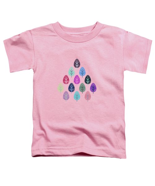 Watercolor Forest Pattern II Toddler T-Shirt
