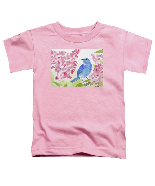 Watercolor - Mountain Bluebird Toddler T-Shirt