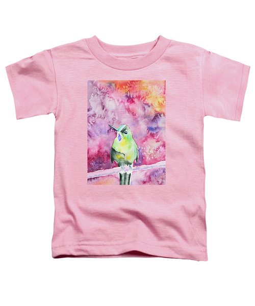 Watercolor - Violet-tailed Sylph Toddler T-Shirt