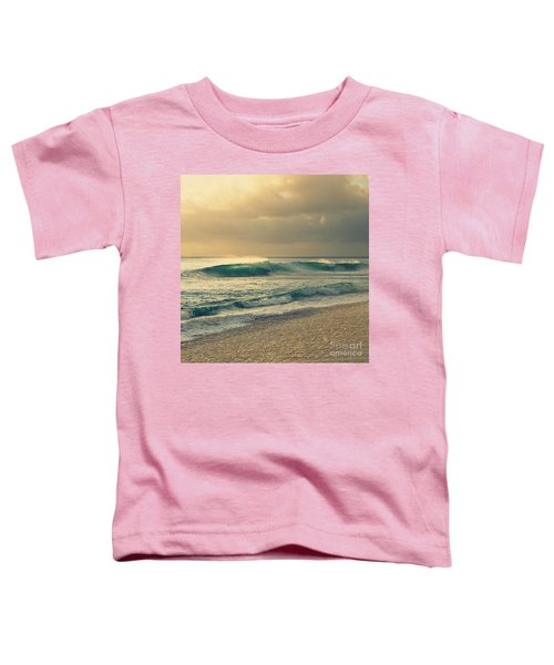 Waves Of Light - Hipster Photo Square Toddler T-Shirt
