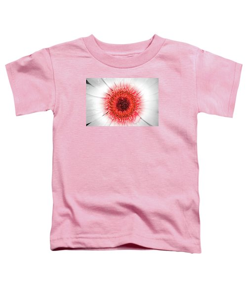 Wet Gerbera With Splash Of Color Toddler T-Shirt