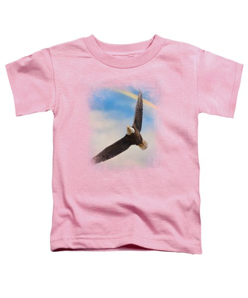 When My Wings Touch The Rainbow Toddler T-Shirt by Jai Johnson