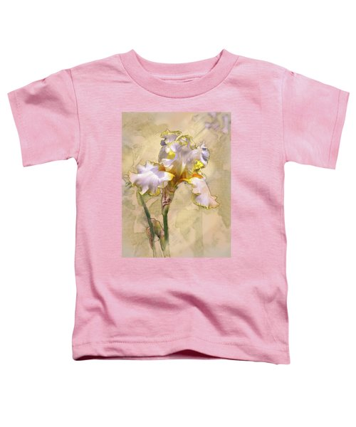 White And Yellow Iris Toddler T-Shirt