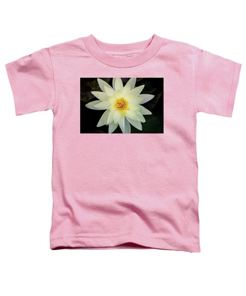 White And Yellow Water Lily Toddler T-Shirt
