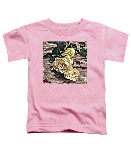White Baby Roses Toddler T-Shirt