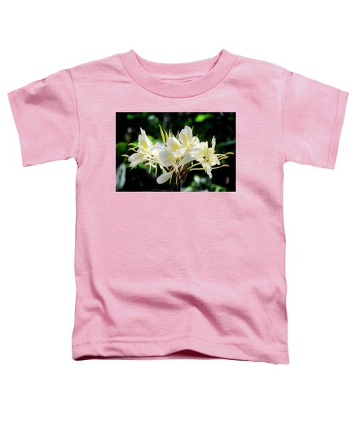 White Hawaiian Flowers Toddler T-Shirt