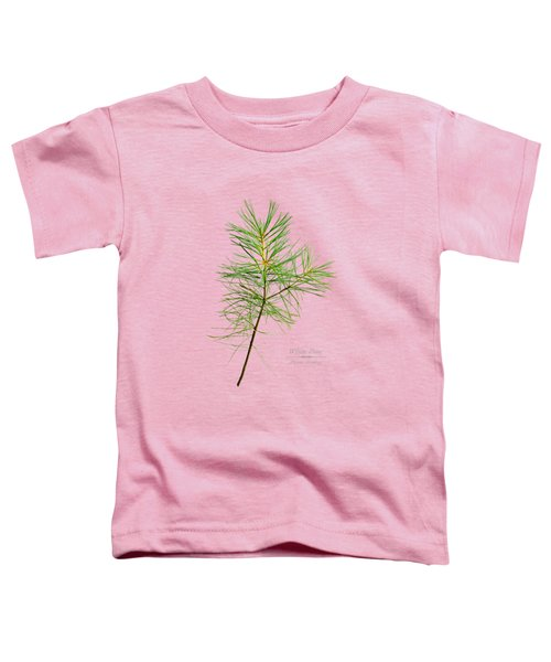 Toddler T-Shirt featuring the mixed media White Pine by Christina Rollo