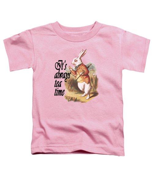 White Rabbit Alice In Wonderland Vintage Art Toddler T-Shirt