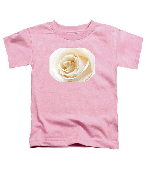 White Rose Heart Toddler T-Shirt