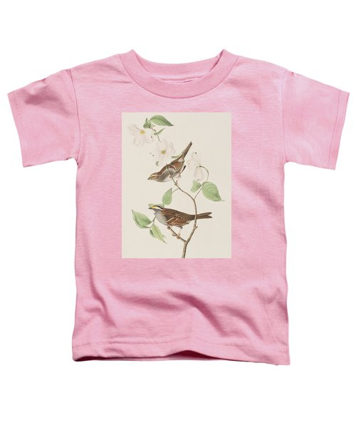 White Throated Sparrow Toddler T-Shirt by John James Audubon