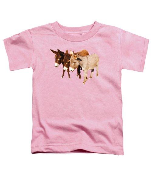 Wild Burro Buddies Toddler T-Shirt by Sandra O'Toole