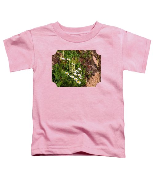 Wild Daisies In The Rocks Toddler T-Shirt