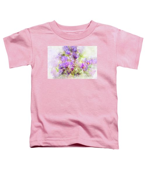 Wild Flowers In The Fall Watercolor Toddler T-Shirt